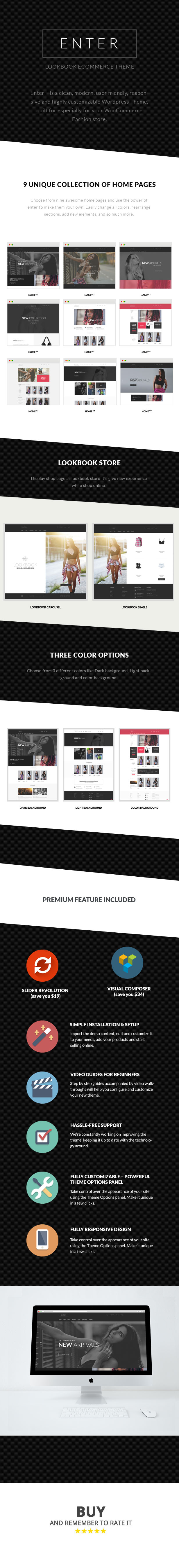 Enter - Fashion & Look Book WooCommerce Theme - 1
