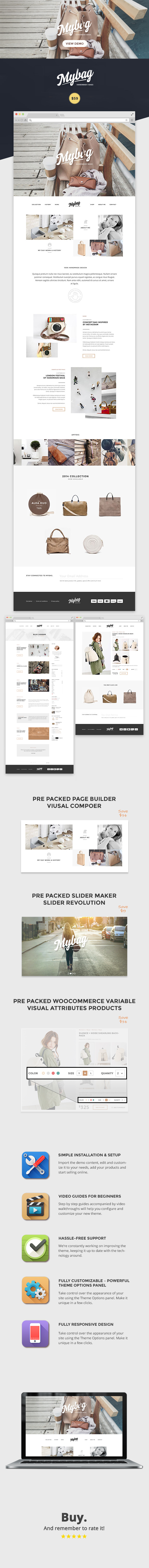 MyBag Single Product WooCommerce Theme - 1