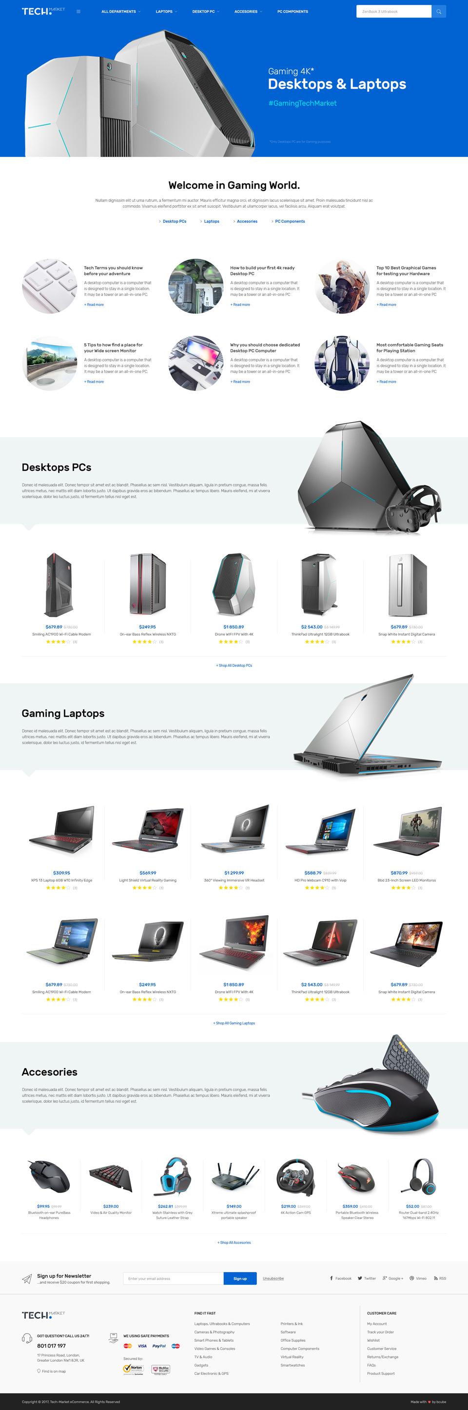 techmarket electronics wordpress theme