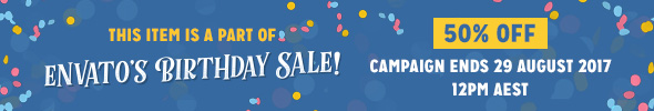 Envato Birthday Sale