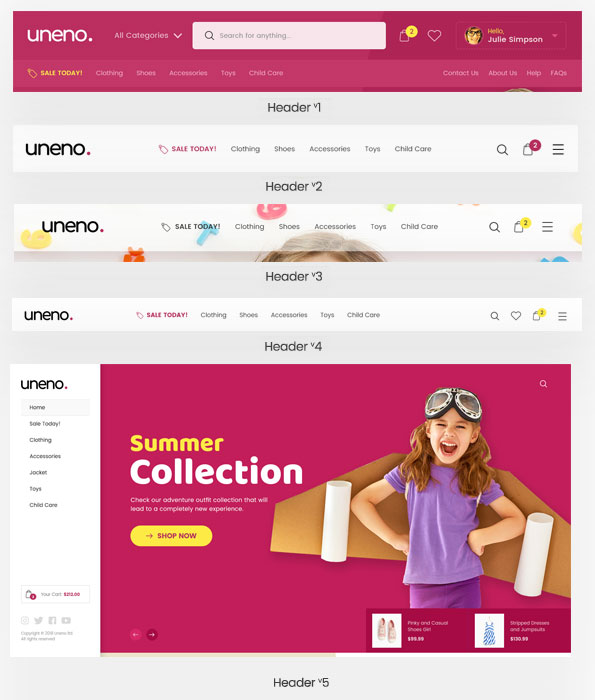 Uneno - Kids Clothing & Toys Store WooCommerce Theme - 10
