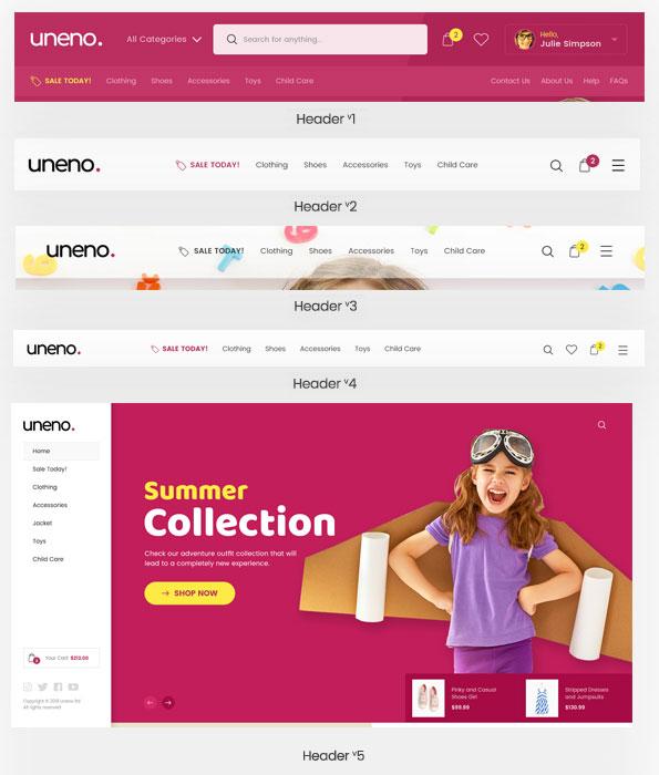 Uneno - Kids Clothing & Toys Store WooCommerce Theme - 9
