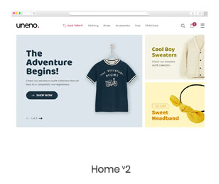 Uneno - Kids Clothing & Toys Store WooCommerce Theme - 6