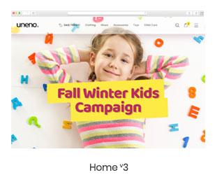 Uneno - Kids Clothing & Toys Store WooCommerce Theme - 4