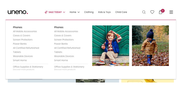 Uneno - Kids Clothing & Toys Store WooCommerce Theme - 12